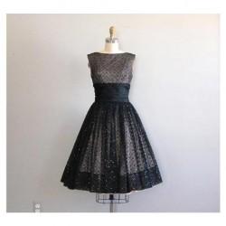 Siyah Vintage Elbise Modelleri