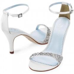 Taş Süslemeli Beyaz Ayakkabı Modelleri