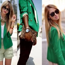 Yeşil Renk Renkli Blazer Ceket Modelleri