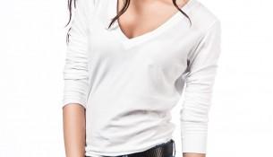 V Yaka Beyaz Bluz 2015 Levi's Modelleri