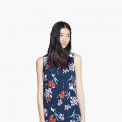 Çiçek Desenli Yeni Sezon Mango Elbise Modelleri