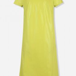 Aksesuarlı Sarı Vakko Elbise Modelleri