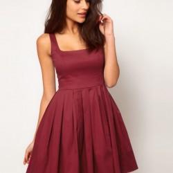 Askılı Yeni Sezon Kloş Elbise Modelleri