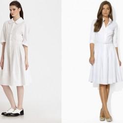 Beyaz Gömlek Elbise Modelleri