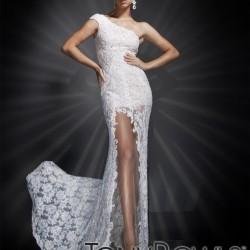 Dantelli Tek Omuz Yeni Sezon Tony Bowls Elbise Modelleri