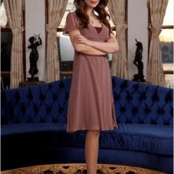 Günlük Toprak Rengi Elbise Modelleri