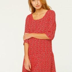 Kırmızı Elbise Mudo City Yeni Sezon Modelleri