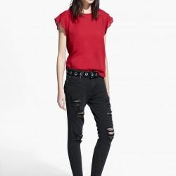 Kırmızı Yeni Sezon Mango Bluz Modelleri