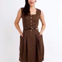 Kolsuz Zarif Toprak Rengi Elbise Modelleri