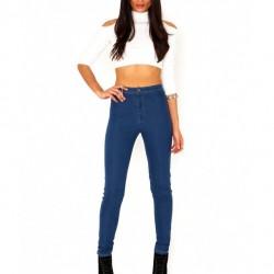 Mavi Yeni Sezon Yüksek Bel Kot Pantolon Modelleri