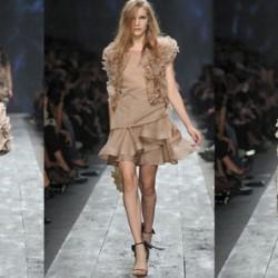 Mini Toprak Rengi Elbise Modelleri
