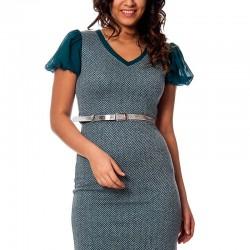 Mini Yeni Sezon Kolları Volanlı Elbise Modelleri