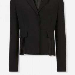 Piliseli Siyah Vakko Ceket Modelleri