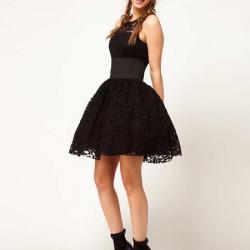 Prenses Stili Siyah Yeni Sezon Mezuniyet Elbise Modelleri
