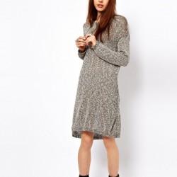 Sade Yeni Sezon Örgü Elbise Modelleri