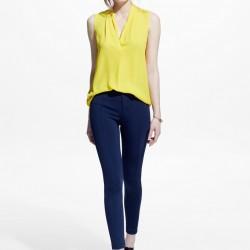 Sarı Yeni Sezon Mango Bluz Modelleri
