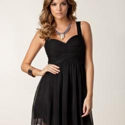Siyah Tül Detaylı Mini Yeni Sezon Mezuniyet Elbise Modelleri