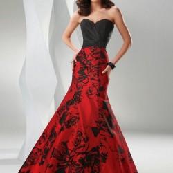 Siyah ve Kırmızı Abiye Modelleri