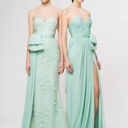 Straplez Mint Yeşili Elbise Modelleri