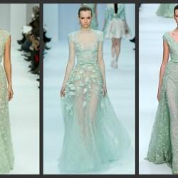 Tül Detaylı Mint Yeşili Elbise Modelleri
