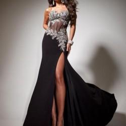 Yırtmaç Detaylı Siyah Yeni Sezon Tony Bowls Elbise Modelleri