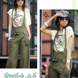 Yeşil Bayanlar İçin Askılı Pantolon Modelleri