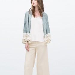 Açık Mavi Zara Ceket Modelleri