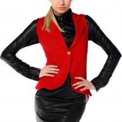Kırmızı 2015 Yelek Modelleri