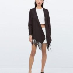 Püskül Detaylı Zara Ceket Modelleri