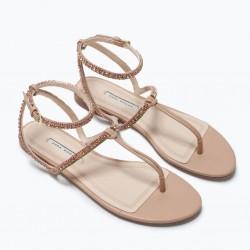 Taş Süslemeli Zara 2015 Sandalet Modelleri