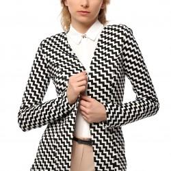 Zikzak Desenli Ceket 2015 Yazlık Ofis Kıyafetleri