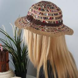 Renkli Hasır Şapka Modelleri