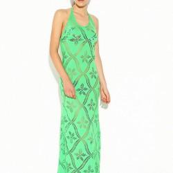 Açık Yeşil Desenli Park Bravo 2015 Elbise Modelleri