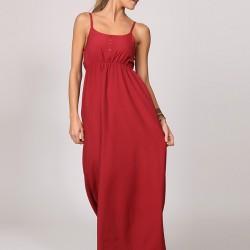 Askılı Kırmızı Elbise Ola Yeni Sezon Modelleri