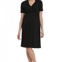 Emzirme Özellikli Siyah Elbise Gebe Yeni Sezon Hamile Giyim