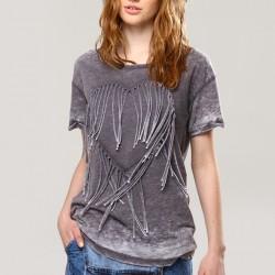 Püsküllü T-shirt Bohem Tarz Sokak Modası Modelleri