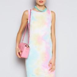 Renkli Kolsuz Elbise Twist Yaz Sezonu Modelleri