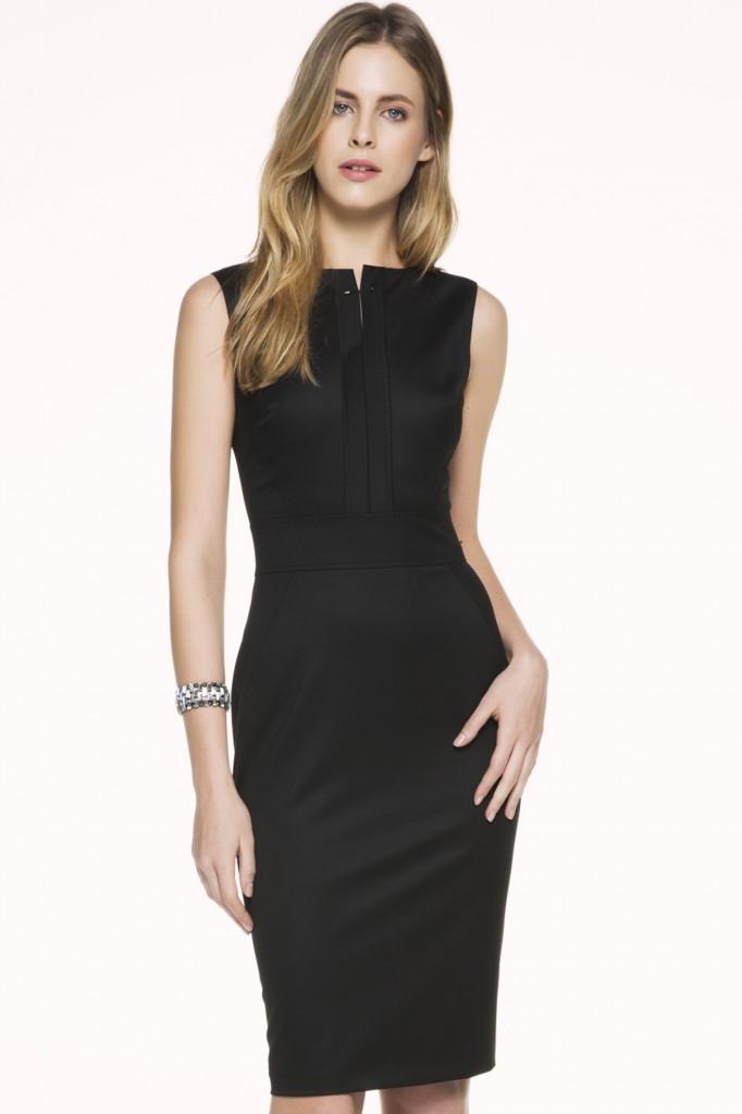 Sıfır Kol Siyah İpekyol 2015 Elbise Modelleri