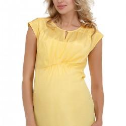 Sarı Tunik Gebe Yeni Sezon Hamile Giyim