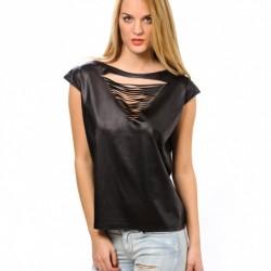 Siyah Lazer Kesim Bluz Modelleri