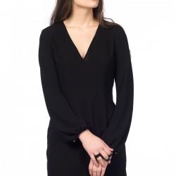 V Yaka Siyah Zara Elbise Modelleri