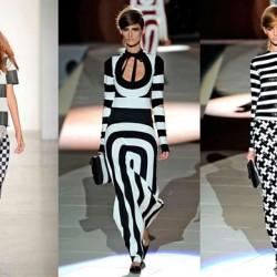 Yeni Sezon Monokrom Elbise Modelleri