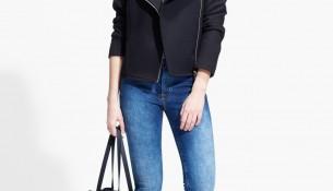 Asimetrik fermuarlı mango ceket modeli 2015