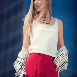 Askılı Beyaz adL Bluz Modelleri