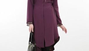 En zarif tesettür tunik elbise modelleri