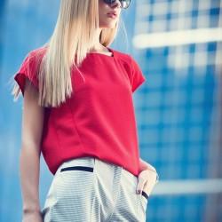Kırmızı adL Bluz Modelleri