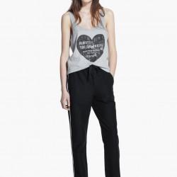 Kalp baskılı oldukça zarif mango tişört modeli