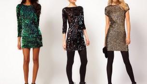 En iddialı payetli elbise modelleri