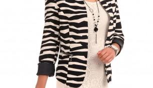 Desenli Patırtı Blazer Ceket Modeli