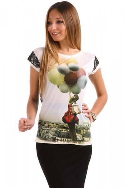 İşlemeli Baskıl Patırtı Giyim Tişört Modelleri 2016